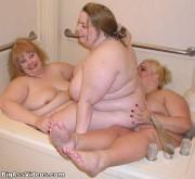 Free porn pics of BBW Lesbians in Tub 1 of 12 pics