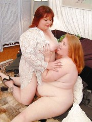 Free porn pics of Redhead BBW Lesbos 1 of 30 pics