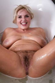 Free porn pics of Comments--BBW Hairy Blonde in Tub 1 of 26 pics