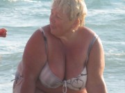 Free porn pics of Lovely Granny on a beach 1 of 14 pics