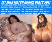 Free porn pics of BBW Big Busted Milk Wrestling 1 of 1 pics