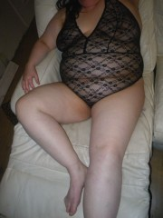 Free porn pics of My BBW wife relaxing for the evening 1 of 15 pics