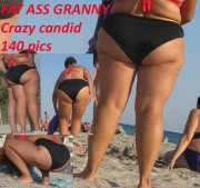 Free porn pics of FAT ASS GRANNY CRAZY CANDID 1 of 1 pics