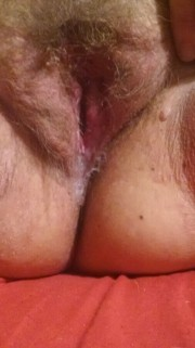 Free porn pics of My Wifes Pussy, After Being Used 1 of 10 pics
