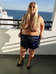 Free porn pics of Blond BBW Milf-Blue Dress 1 of 71 pics