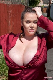 Free porn pics of Bra busting Brit fatty posing in an exotic location. Rotherham 1 of 43 pics