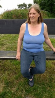 Free porn pics of Posing on park bench. 1 of 18 pics