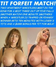 Free porn pics of Marathon Milk Wrestling Card 1 of 10 pics