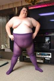 Free porn pics of Kristy wearing a Purple PANTYHOSE 1 of 29 pics