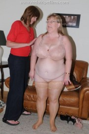 Free porn pics of BBW Wife Stripped Naked and Strapped Hard 1 of 45 pics