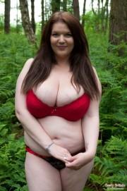 Free porn pics of Big Tits BBW Naked & Barefoot Outdoors 1 of 71 pics