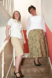 Free porn pics of Two women on the stairs 1 of 143 pics