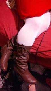 Free porn pics of Wifes Boots With Thigh Highs For Your Comments 1 of 10 pics